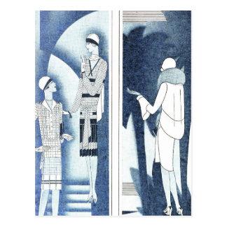 Copies vintages de mode cartes postales