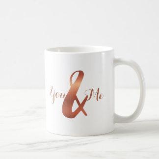 copperAmpersand de Faux vous et moi tasse de café