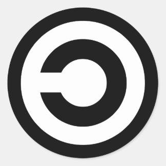 Copyleft - l'information veut être libre adhésifs ronds