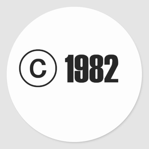 Copyright 1982 autocollants