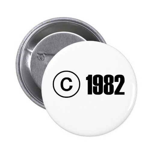 Copyright 1982 pin's avec agrafe