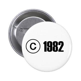 Copyright 1982 badge rond 5 cm