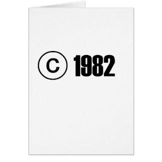 Copyright 1982 carte de vœux