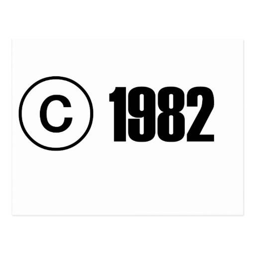 Copyright 1982 cartes postales