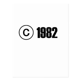 Copyright 1982 carte postale