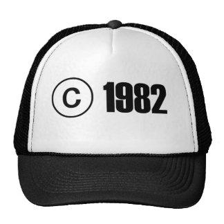 Copyright 1982 casquettes de camionneur