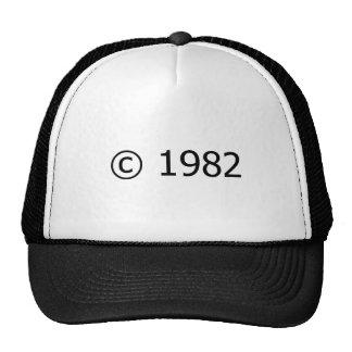 Copyright 1982 casquettes