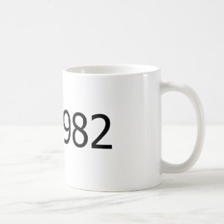 Copyright 1982 mug blanc