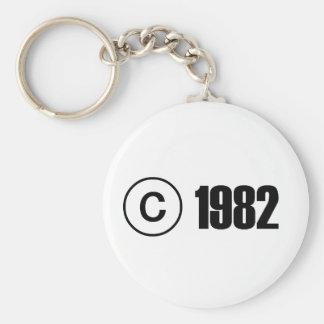 Copyright 1982 porte-clé rond