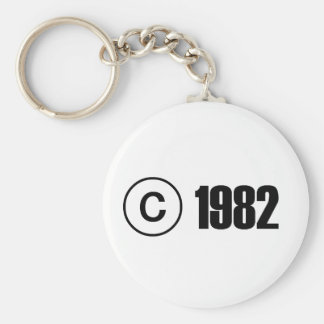 Copyright 1982 porte-clés