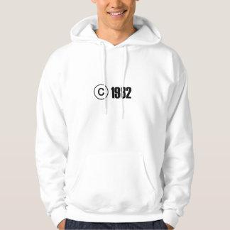 Copyright 1982 sweatshirt à capuche