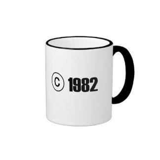 Copyright 1982 mugs à café