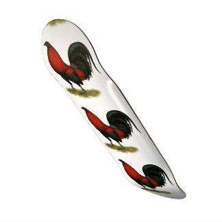 Coq américain de rouge de noir de BB de jeu Plateaux De Skate