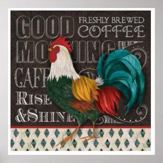 Coq bonjour posters