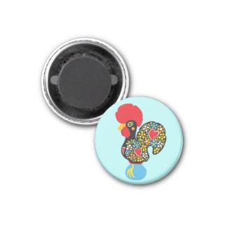 Coq célèbre de Barcelos Nr 06 Magnet Carré 2,50 Cm