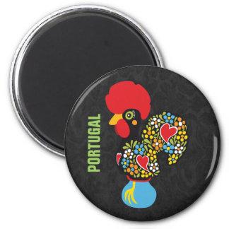 Coq célèbre de Barcelos Nr 06 Magnet Rond 8 Cm