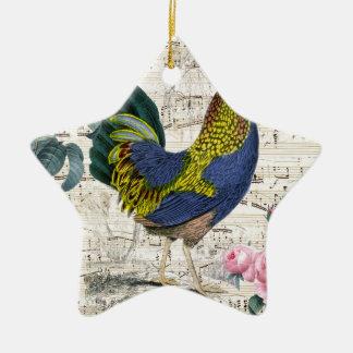 Coq chic minable ornement étoile en céramique