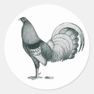 Coq de combat Crele ou DOM Sticker Rond