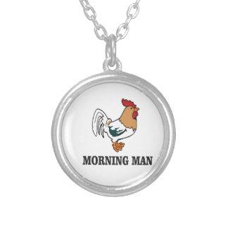 coq d'homme de matin pendentif rond