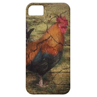 Coq français de pays de poulet en bois de ferme de coque barely there iPhone 5