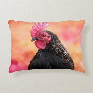 Coq noir coussins décoratifs