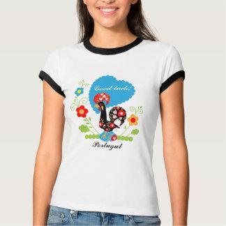 Coq portugais de bonne chance t-shirt