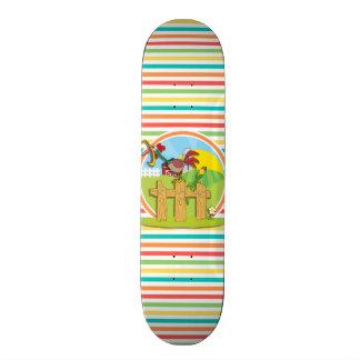 Coq Rayures lumineuses d arc-en-ciel Skateboards