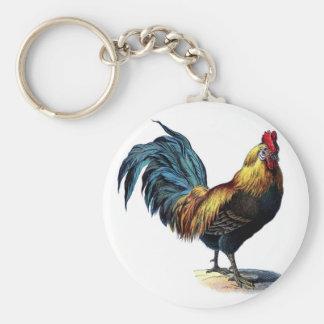 Coq vintage porte-clés