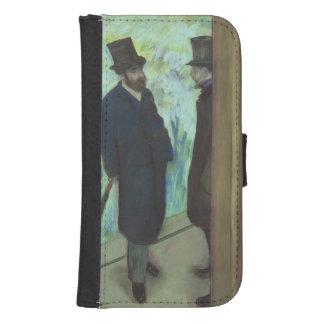 Coque Avec Portefeuille Pour Galaxy S4 Amis d'Edgar Degas   au théâtre