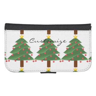 Coque Avec Portefeuille Pour Galaxy S4 Arbre de Noël Thunder_Cove