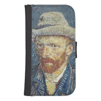 Coque Avec Portefeuille Pour Galaxy S4 Autoportrait de Vincent van Gogh | avec le chapeau