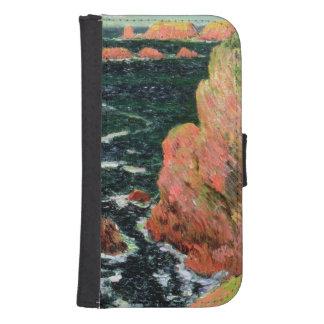 Coque Avec Portefeuille Pour Galaxy S4 Belle Ile de Claude Monet |