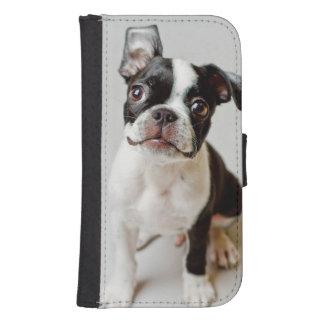 Coque Avec Portefeuille Pour Galaxy S4 Boston Terrier