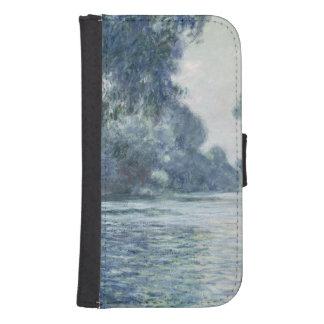 Coque Avec Portefeuille Pour Galaxy S4 Branche de Claude Monet | de la Seine près de