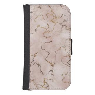 Coque Avec Portefeuille Pour Galaxy S4 Caisse élégante de marbre de rose et d'or
