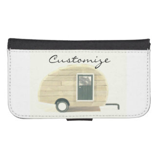 Coque Avec Portefeuille Pour Galaxy S4 caravane gitane Thunder_Cove de larme minuscule
