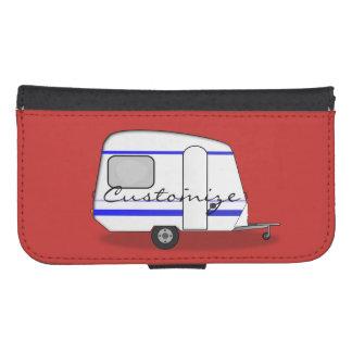 Coque Avec Portefeuille Pour Galaxy S4 Caravane gitane Thunder_Cove de remorque minuscule