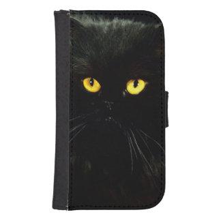 Coque Avec Portefeuille Pour Galaxy S4 Chat noir