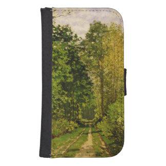 Coque Avec Portefeuille Pour Galaxy S4 Chemin boisé de Claude Monet |
