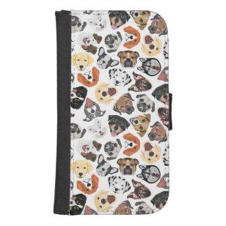 Coque Avec Portefeuille Pour Galaxy S4 Chiens domestiques doux de motif d'illustration