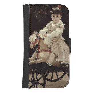 Coque Avec Portefeuille Pour Galaxy S4 Claude Monet | Jean Monet sur son cheval de