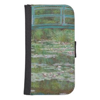 Coque Avec Portefeuille Pour Galaxy S4 Claude Monet | la passerelle japonaise, 1899