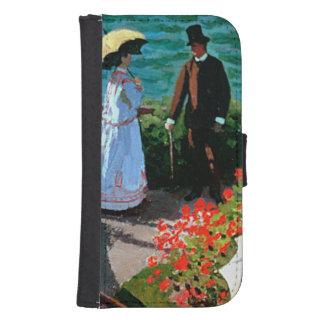 Coque Avec Portefeuille Pour Galaxy S4 Claude Monet | la terrasse chez Sainte-Adresse,