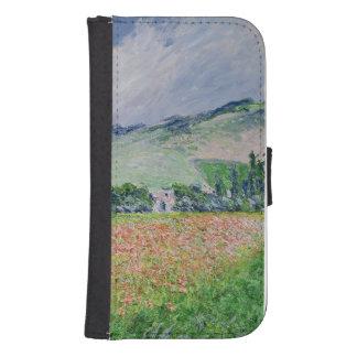 Coque Avec Portefeuille Pour Galaxy S4 Claude Monet | le champ de pavot près de Giverny,