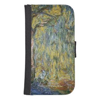 Coque Avec Portefeuille Pour Galaxy S4 Claude Monet | le grand saule chez Giverny, 1918