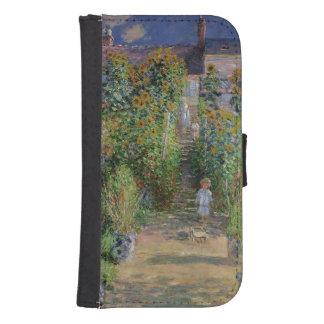 Coque Avec Portefeuille Pour Galaxy S4 Claude Monet | le jardin de l'artiste chez