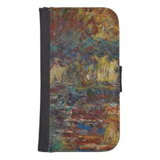 Coque Avec Portefeuille Pour Galaxy S4 Claude Monet | le pont japonais