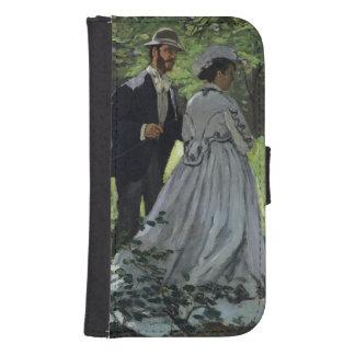 Coque Avec Portefeuille Pour Galaxy S4 Claude Monet | les auditeurs d'un