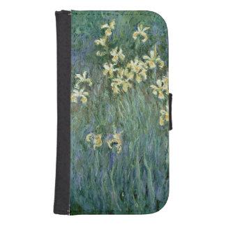 Coque Avec Portefeuille Pour Galaxy S4 Claude Monet | les iris jaunes