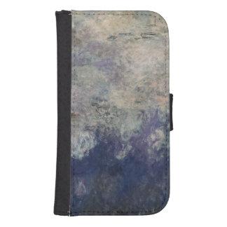 Coque Avec Portefeuille Pour Galaxy S4 Claude Monet | les nénuphars les nuages 1915-26